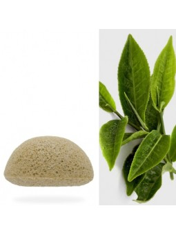 Eponge Konjac au thé vert 1