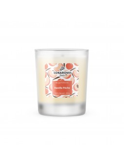 Bougie naturelle parfumée Vanille Pêche 200g