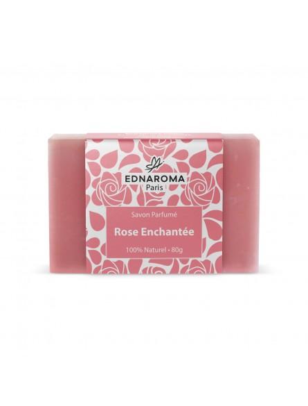 savon surgras naturel parfumé Rose Enchantée 80g